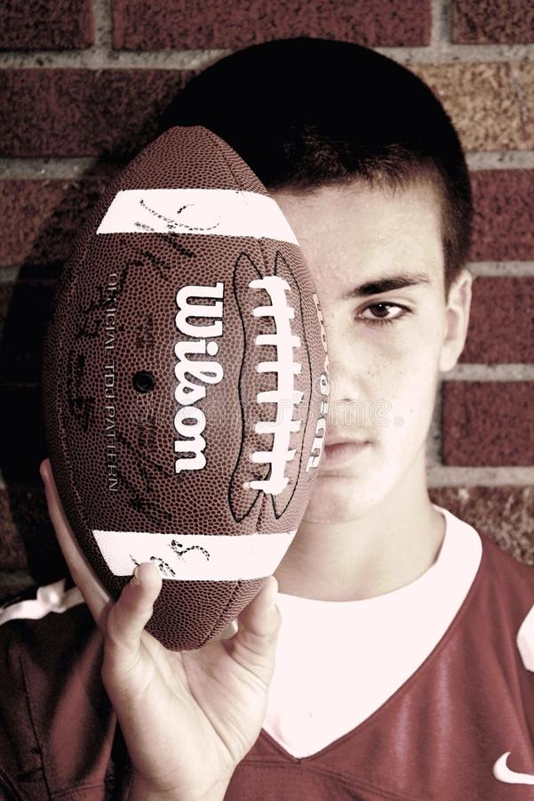 Football. Freshmen portrait session for Milford Football, Milford Michgian royalty free stock photos