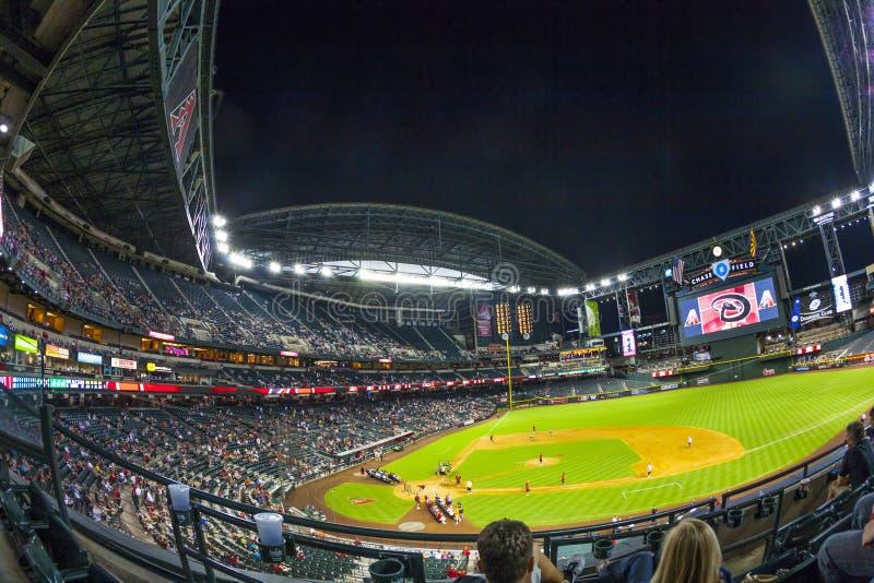 Football game Arizona Diamondbacks stock photography