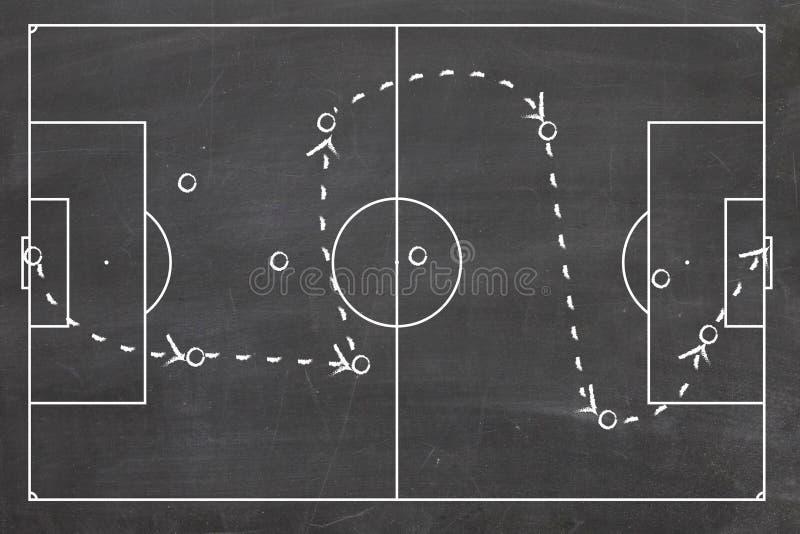 Football game plan stock image