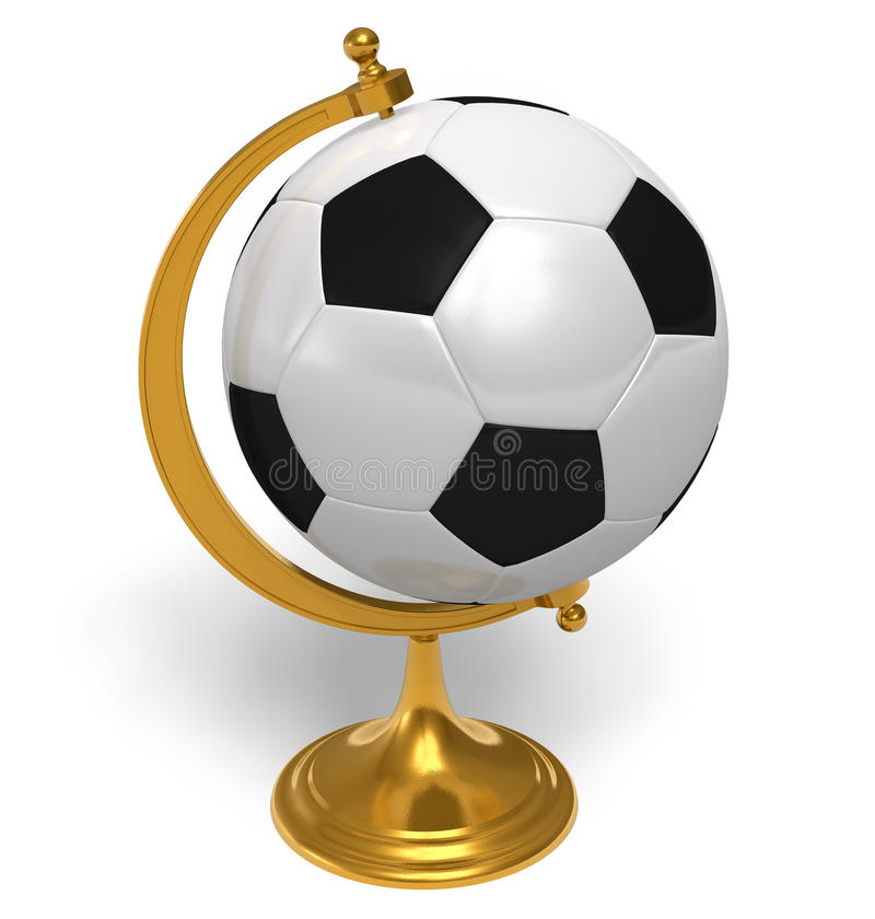 Download Football globe stock illustration. Image of gold, play - 17880092
