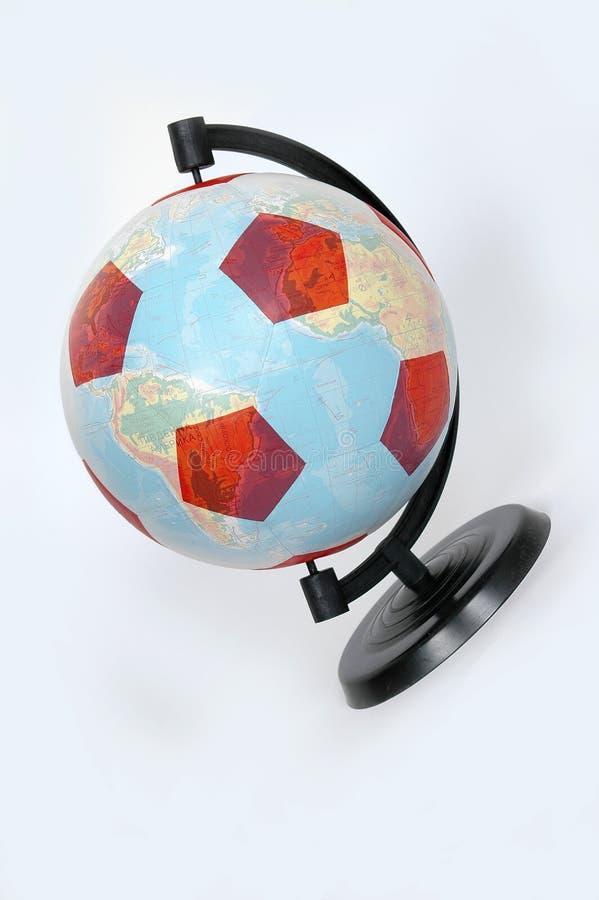 Football - globe royalty free stock photography