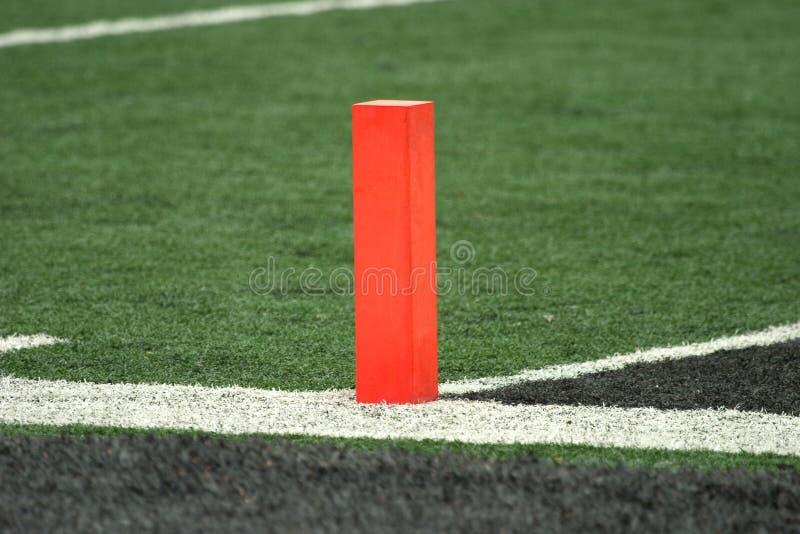 Football Goal Line Pylon Royalty Free Stock Photos