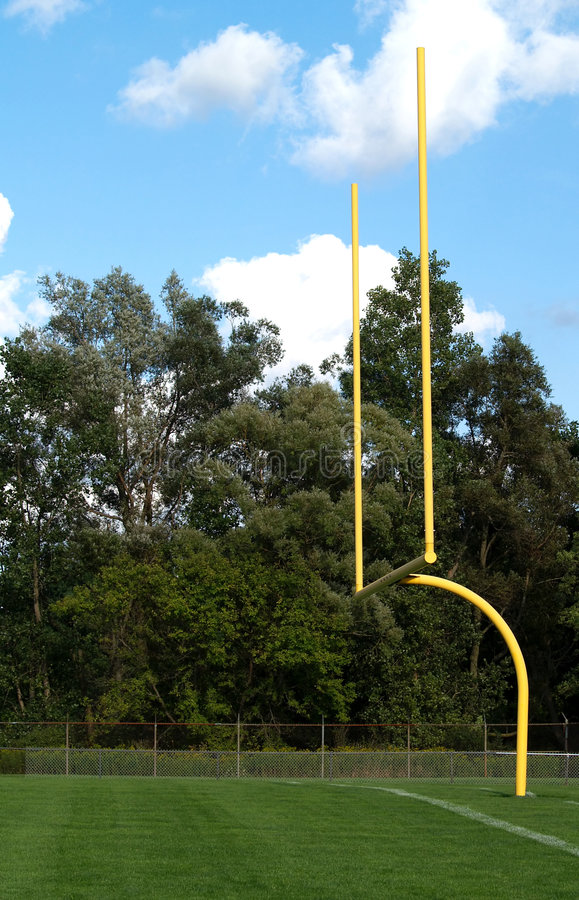 Football Goal Posts Royalty Free Stock Image