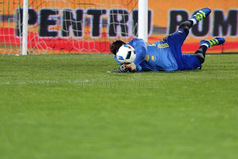 Football goalkeeper - Iker Casillas royalty free stock photos