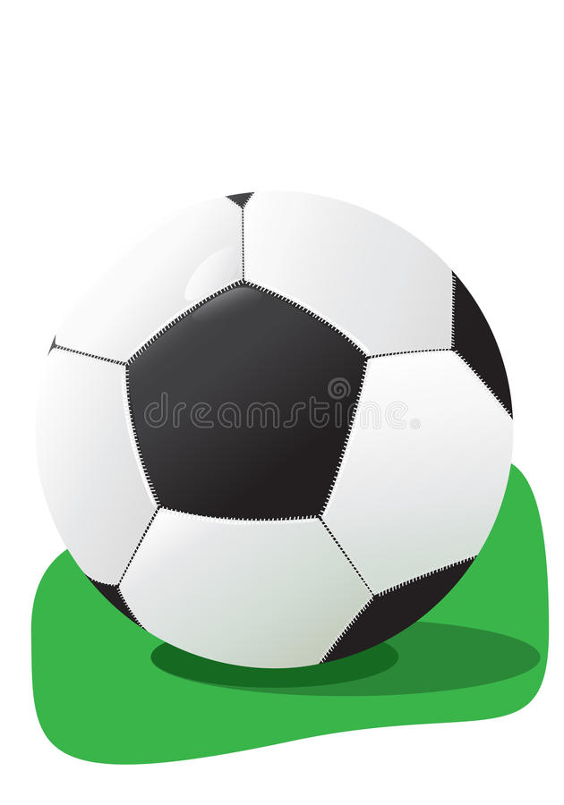 Football in a grass stock photo