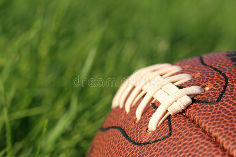 Football in the grass royalty free stock photography