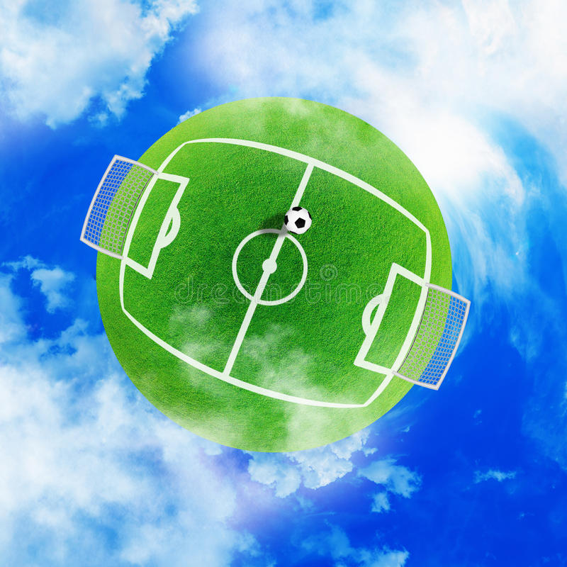 Football green planet royalty free stock image