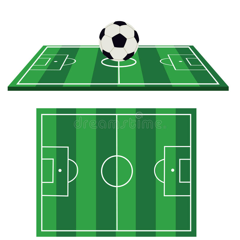 Download Football ground stock vector. Image of ground, illustrated - 16536733