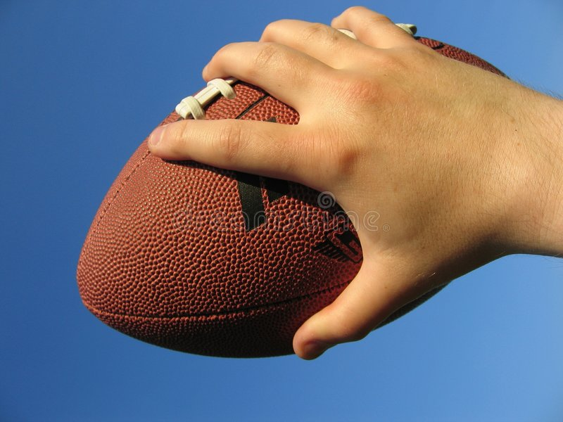 Football in Hand stock photo