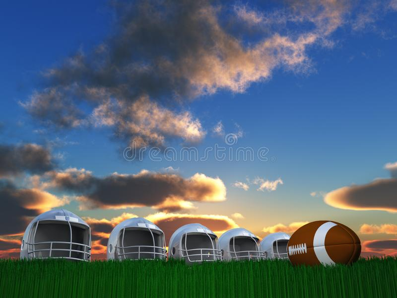Football-Helm-Zusammensetzung stock abbildung