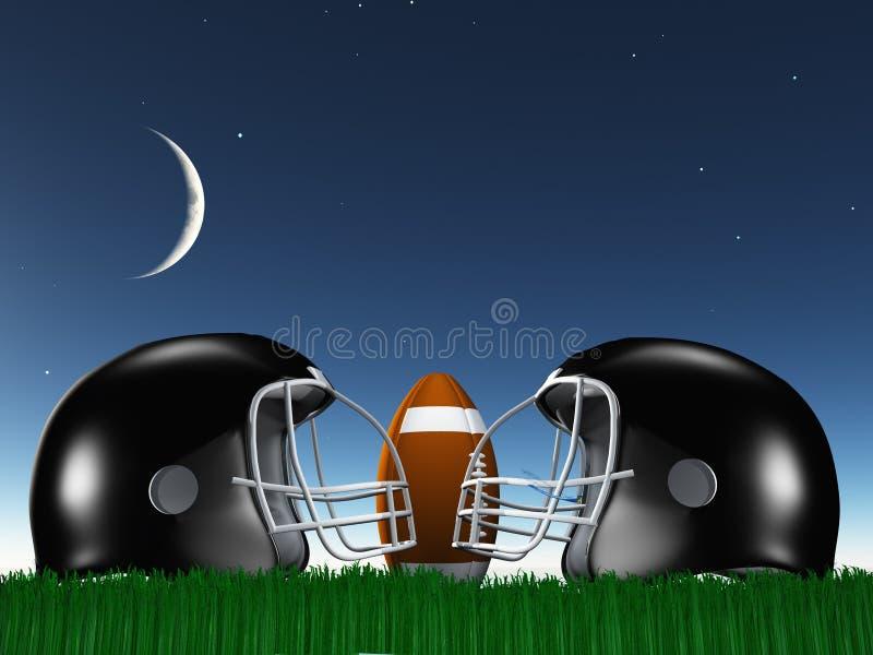 Football-Helm-Zusammensetzung lizenzfreie abbildung