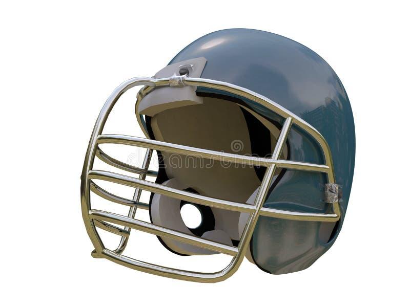 Football helmet. Isolated on white background vector illustration
