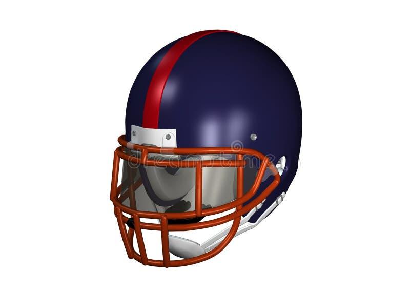 Football Helmet. Digital image of American football helmet on white background