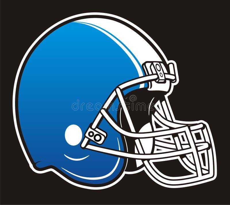 Football Helmet. Isolated blue american football helmet stock illustration