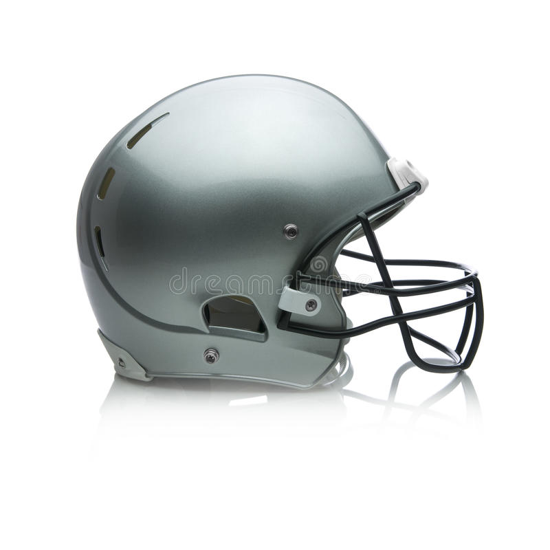 Football Helmet. On white royalty free stock images