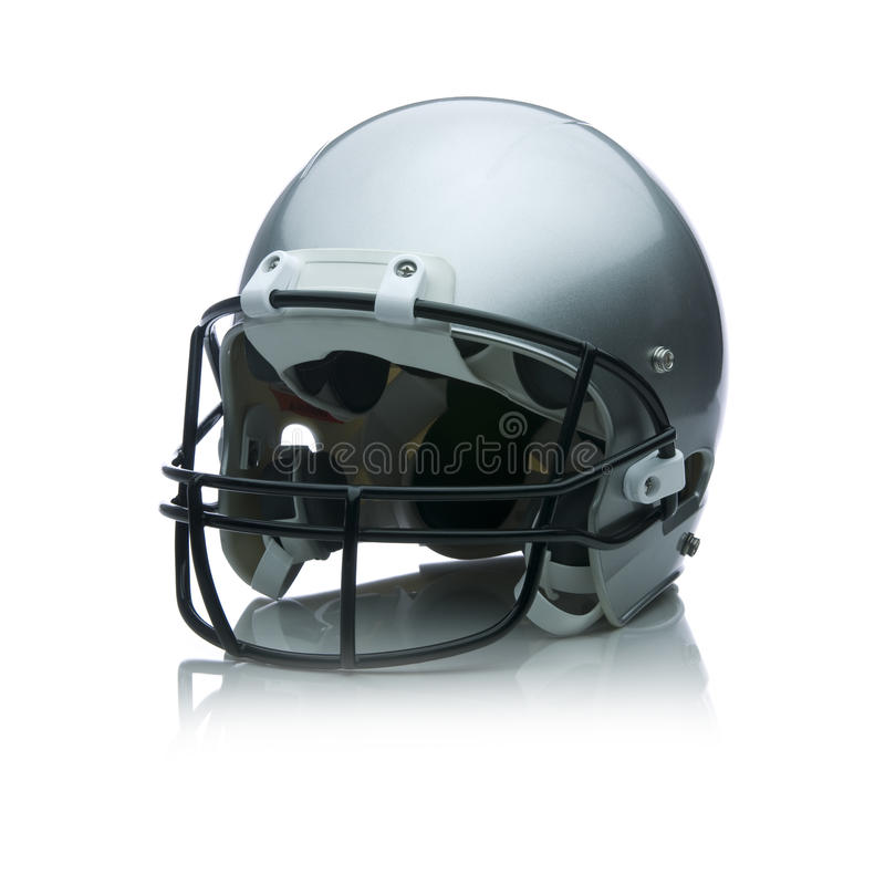 Football Helmet. Image of a football helmet on white stock images