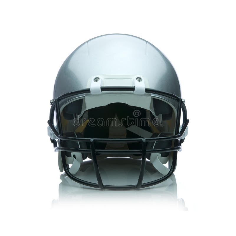 Football Helmet. Image of a football helmet on white royalty free stock photo