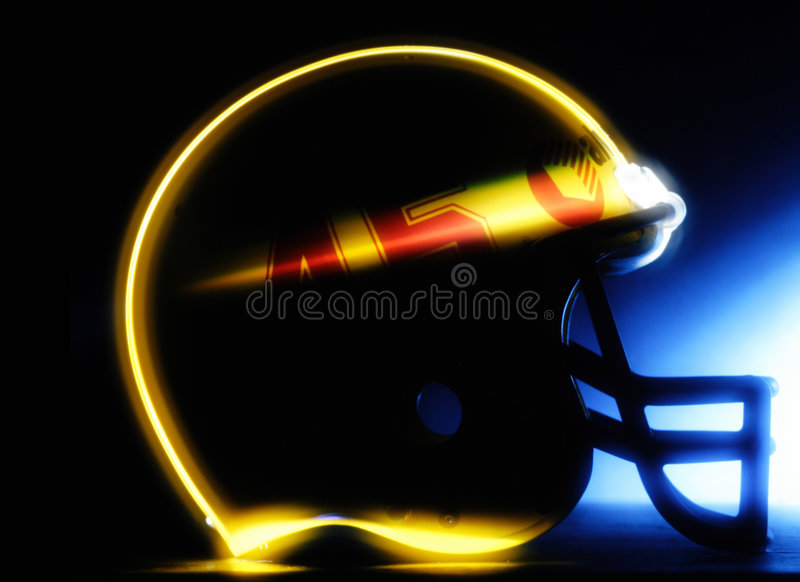 Football helmet. A football helmet with outline fx light stock images