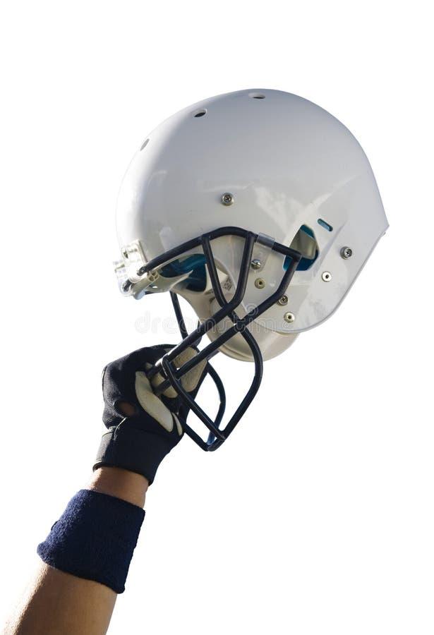 Football Helmet Clipping Path royalty free stock photos