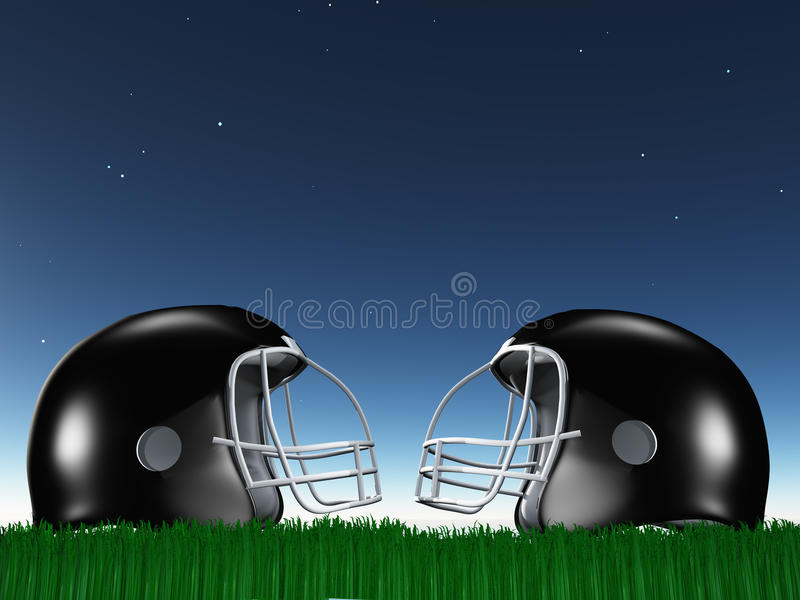 Download Football Helmet Composition Stock Illustration - Image: 32279226