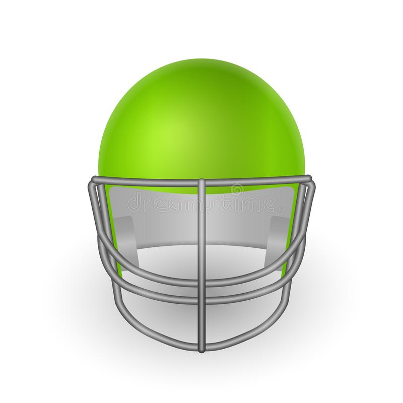 Football helmet front. Football helmet on a white background. Vector illustration vector illustration