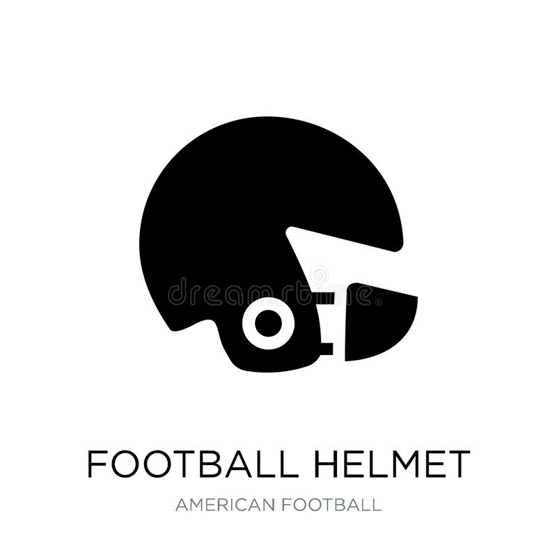 Football helmet icon in trendy design style. football helmet icon isolated on white background. football helmet vector icon simple. And modern flat symbol for stock illustration
