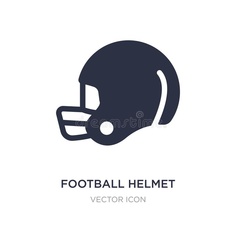 Football helmet icon on white background. Simple element illustration from American football concept. Football helmet sign icon symbol design royalty free illustration