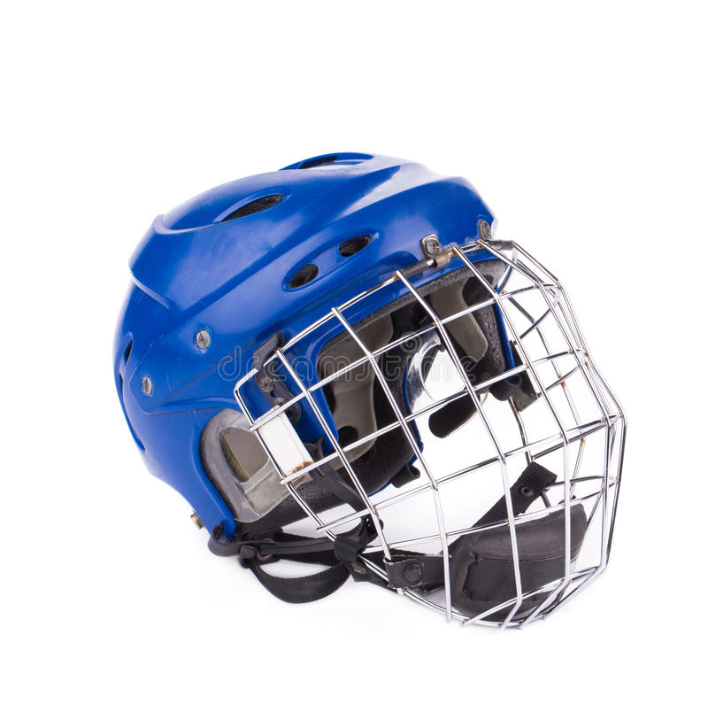 Football Helmet. Isolated on the white background in closeup royalty free stock image
