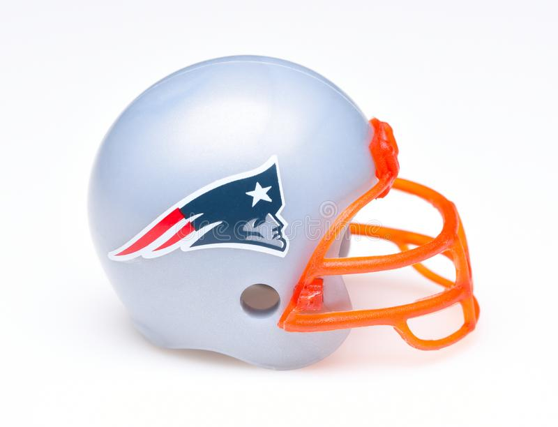 Football Helmet for the New England Patriots royalty free stock image