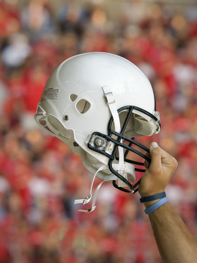 Football Helmet Raised Stock Photo