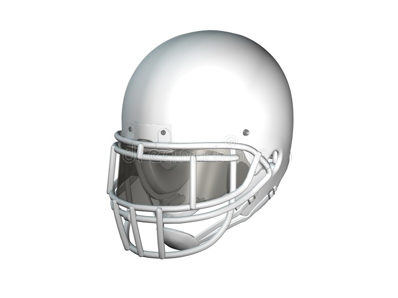 Football Helmet - White royalty free illustration