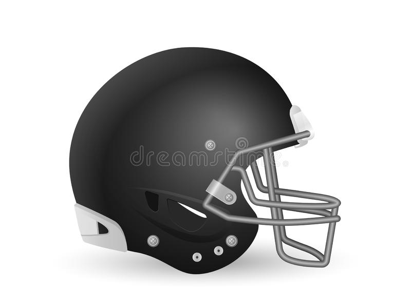 Football helmet. On a white background. Vector illustration stock illustration