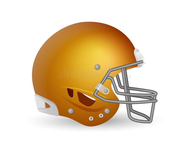 Football helmet. On a white background. Vector illustration royalty free illustration