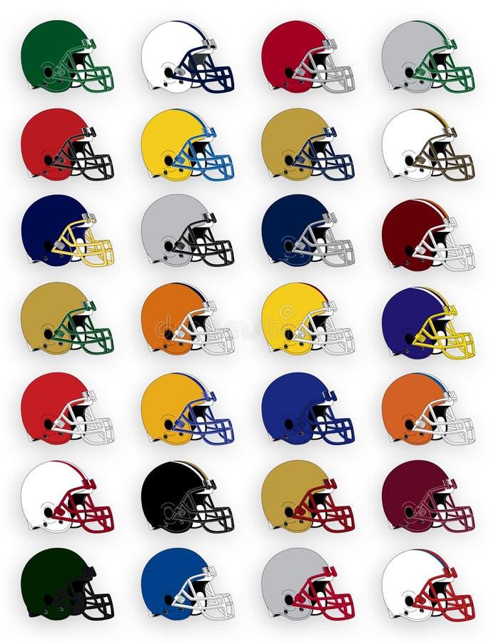 Download Football Helmets stock vector. Image of fall, football - 2976242
