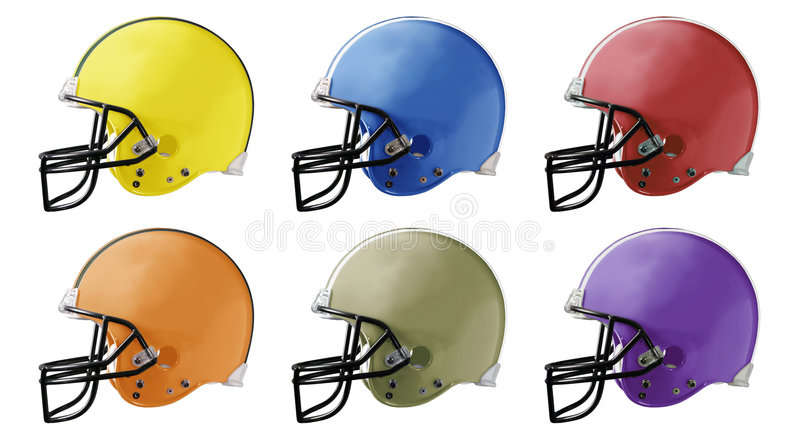Football Helmets royalty free illustration
