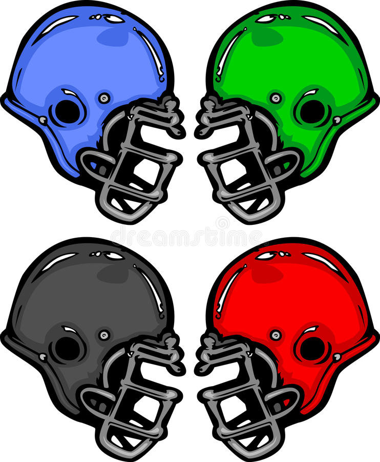 Download Football Helmets Cartoon Illustration Stock Vector - Illustration: 24181632
