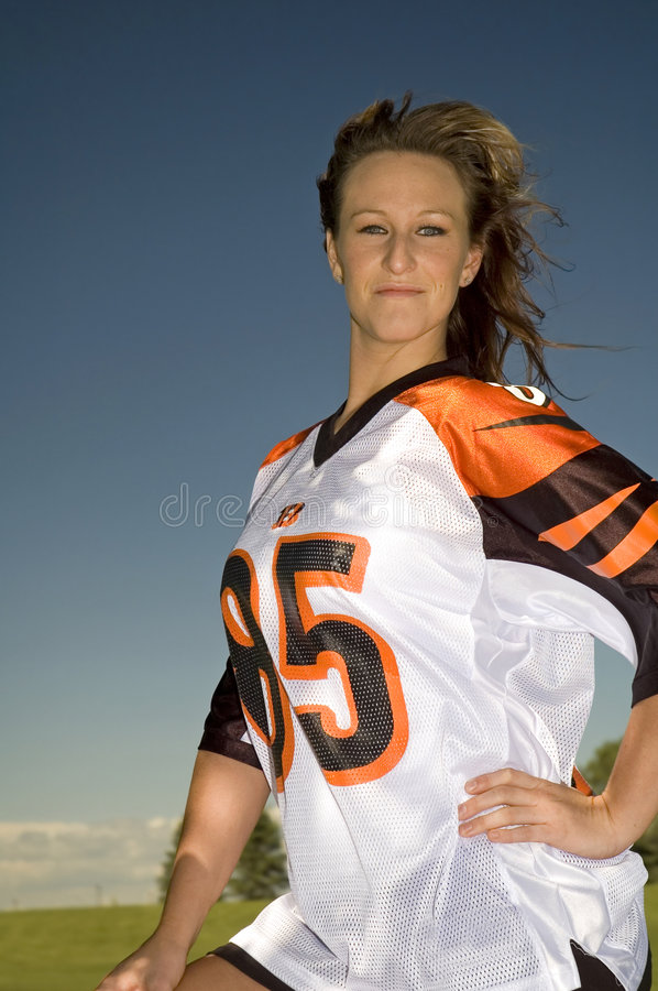 Download Football hottie stock image. Image of good, brunette, gorgeous - 2646017