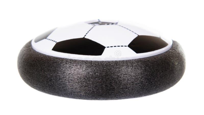 Football, hover-ball, jouet volant pour les enfants Isolé sur blanc photographie stock