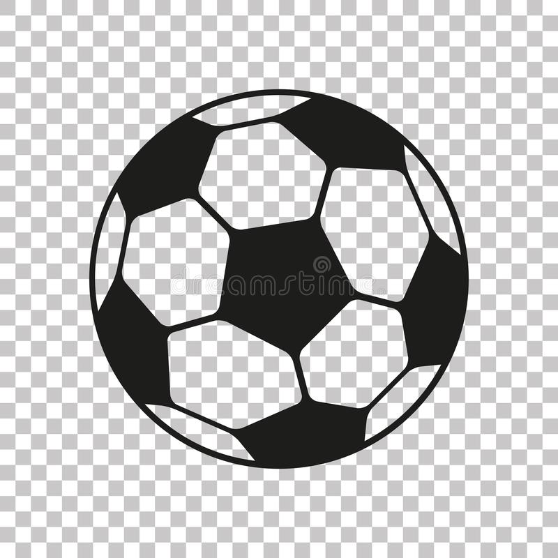 Free Football Icon In Flat Style. Vector Soccer Ball On Transparent Background . Sport Object For You Design Projects Royalty Free Stock Images - 140588179