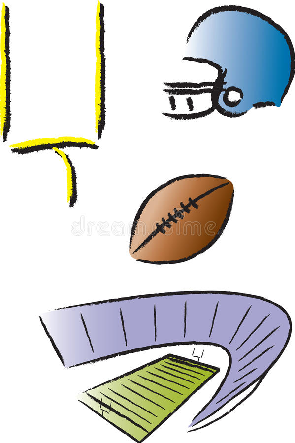 Download Football Icons stock vector. Image of college, posts - 16412462
