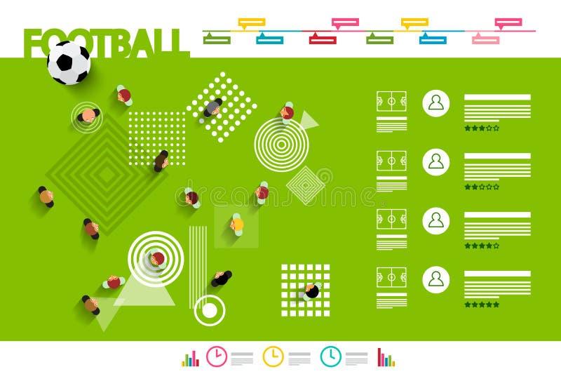 Football Infographic - Vector stock illustration