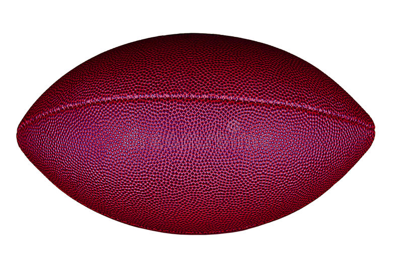 Football isolated on white. stock image
