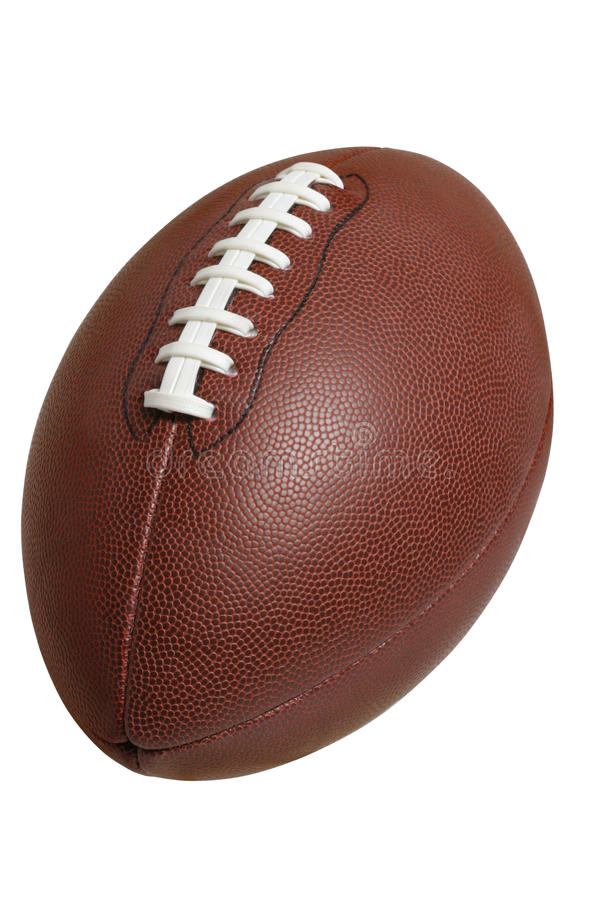 Football Isolated On White With Clipping Path Royalty Free Stock Photo