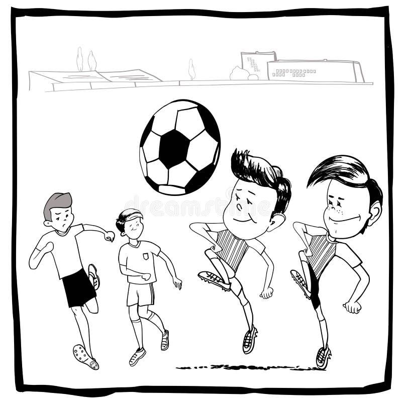 Football illustration libre de droits