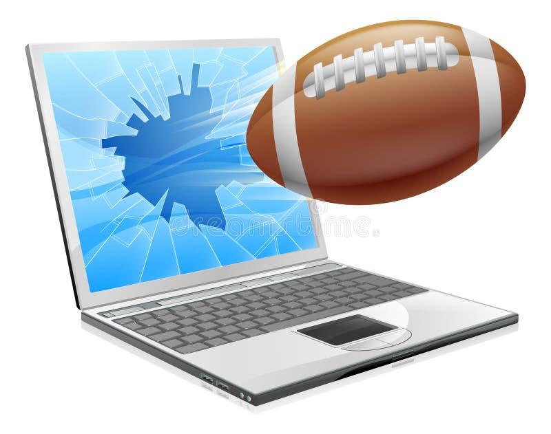 Football laptop concept royalty free illustration