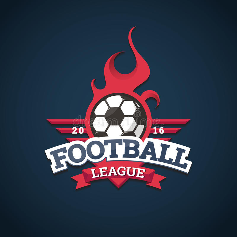 Football league logo, labels, emblems and design elements for sport team 2016. Football league logo, labels, emblems and design elements for sport team 2016 royalty free illustration