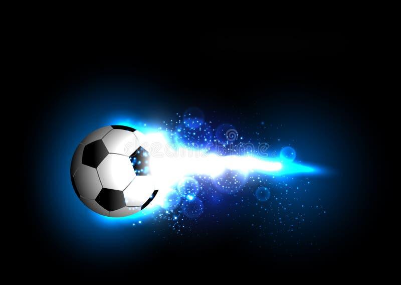 Football light banner stock illustration