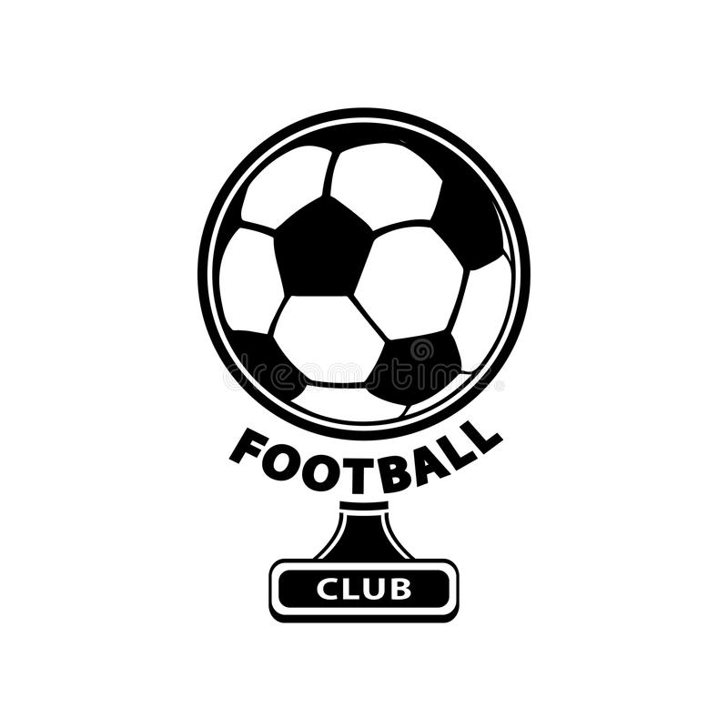 Football logo, ball icon, isolated on white background. Vector vector illustration