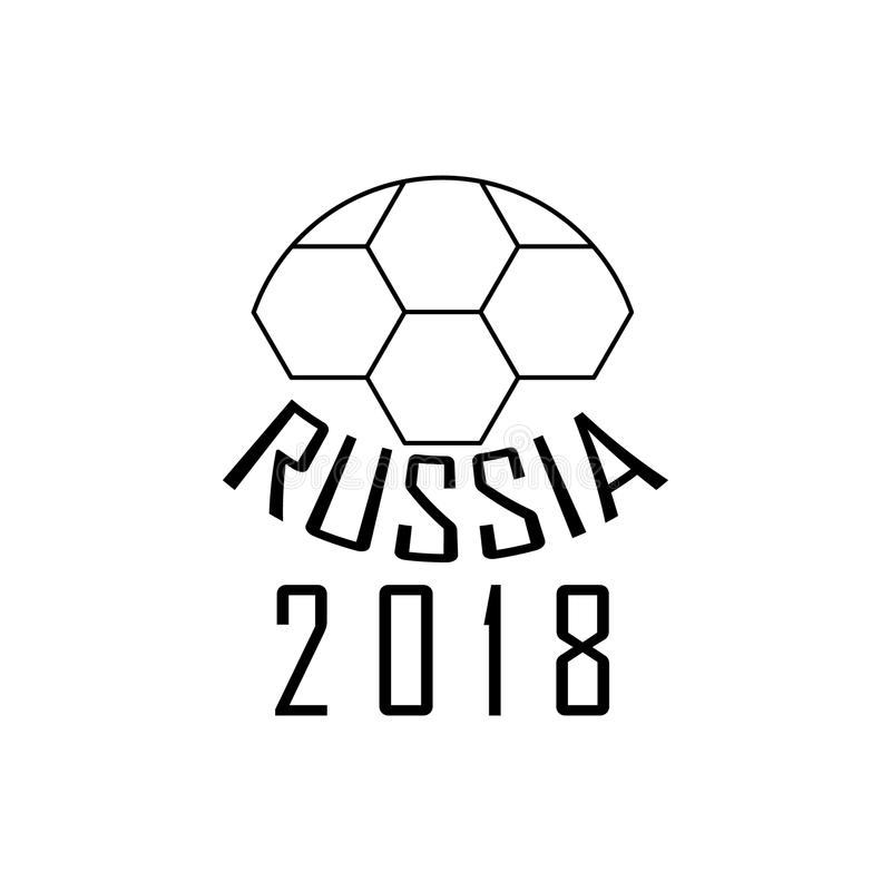 football logo russia icon  element of soccer world cup 2018 for mobile concept and web apps