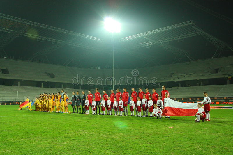Football match stock images